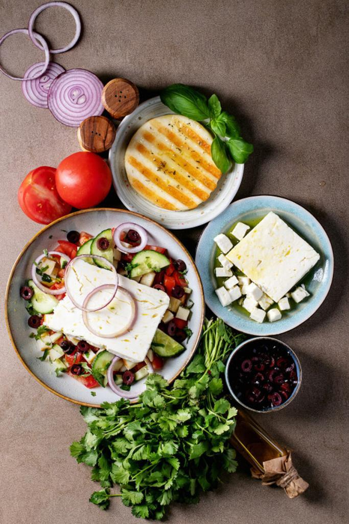 Salada de Queijo Halloumi