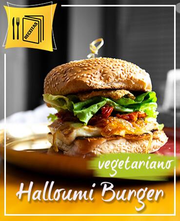 Receita Queijo Halloumi assado Hambúrguer