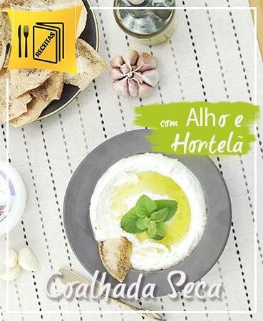 Coalhada Seca - Labneh (de Iogurte natural) com Alho